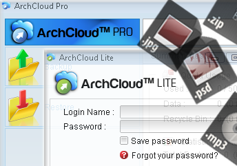ArchCloud Pro and Lite Login screens